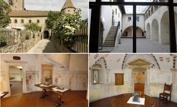 The entrance and interior of the Mereccio Castle.