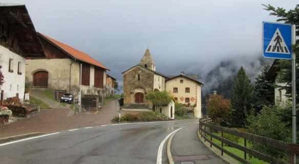 South Tyrol, Taufer: Romanesque church and pilgrims' hospital of St. John.