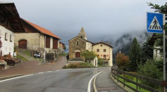 South Tyrol, Taufer: Romanesque church and pilgrims' hospital of St. John.