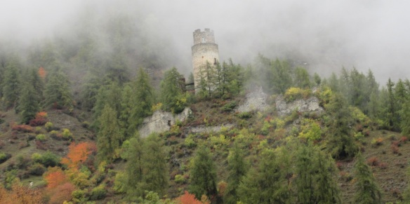 Ruins of Reichenberg Castle, in Taufers