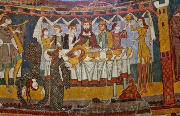 Mural of the main altar; Dinner of Herod Antipas with dancing Salome