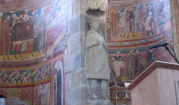 Statue of Charlemagne in the abbey church