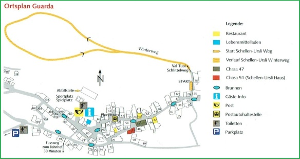 Guarda Village Centre Map