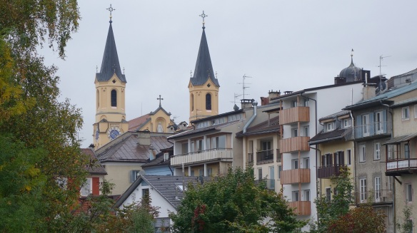 Distant view of the parish church of Assumption.