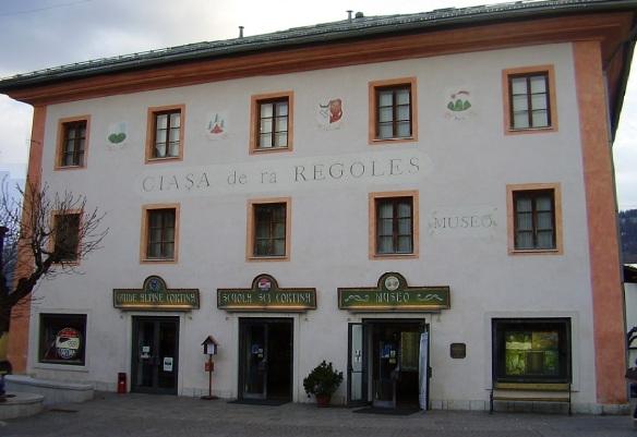 Ciasa De Ra Regoles: the former local government, now turned into a museum.
