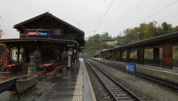 Railway station of Filisur.