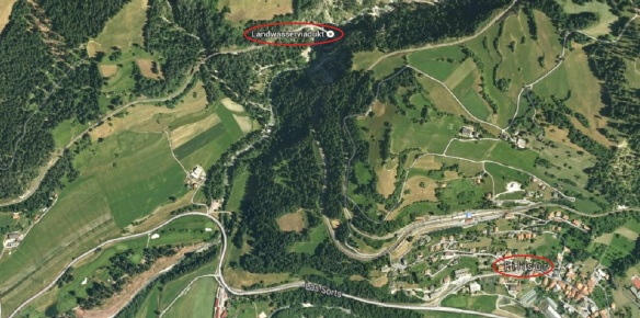 Google Map, Filisur ⇒ Landwasser Viaduct