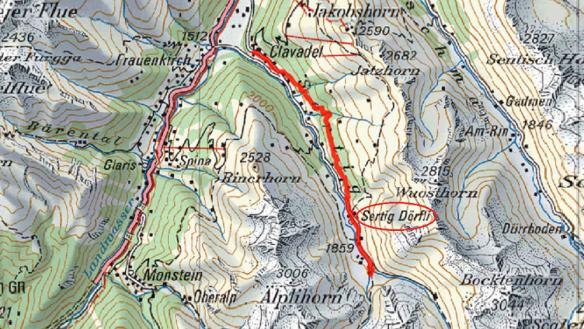 Map of Sertig Valley