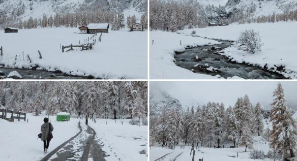 Scenery of Sertig Dorfli Village