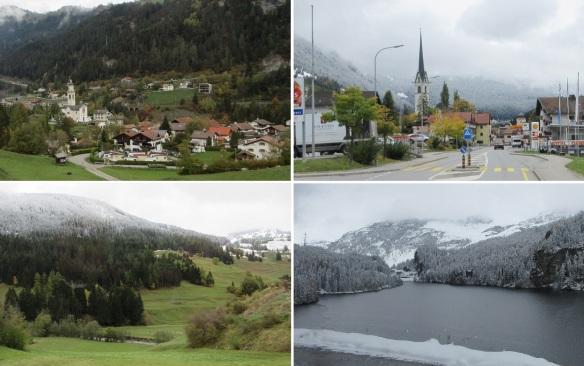 Passed through the Sertig Valley, going to Saint Moritz.