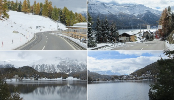 Going into the town of Saint Moritz.