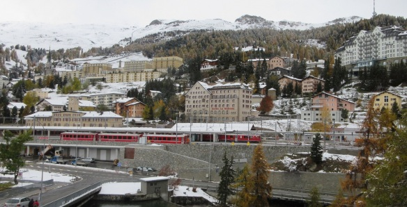 Arrived at the city center of Saint Moritz.