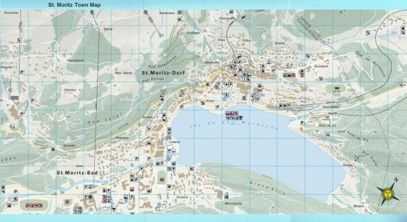Saint Moritz Town Map, Switzerland