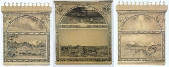 Il Trittico della natura (The Triptych of nature); La vita (Life), La natura (Nature), La morte (Death) 1898-1899