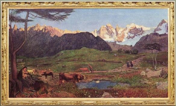 The triptych of nature; La vita (The life) 190 x 320 cm