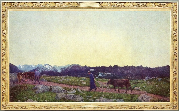 The triptych of nature; La natura (Nature), 235 x 400 cm
