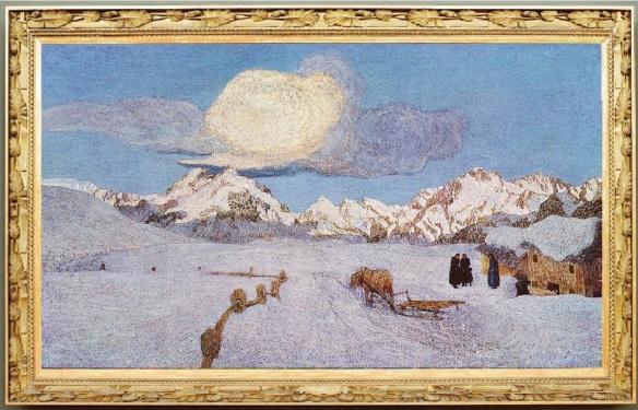 The triptych of nature; La morte (The dead), 190 x 320 cm