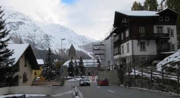 Street of Via dal Bagn, St. Moritz