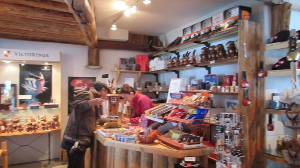 Souvenir shop of the Corvatsch summit station