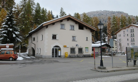 Post Office and Bus Terminal of Sils-Maria