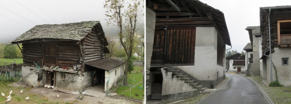 Traditional houses on the Principale Street, under floor is warehouse, upstairs is residence.