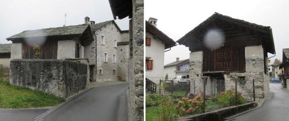 Scenery of the village of Vicosoprano