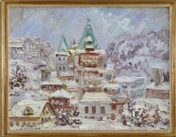 St. Moritz mit Hotel B'adrutts Palace (St. Moritz Hotel Badrutt's Palace)