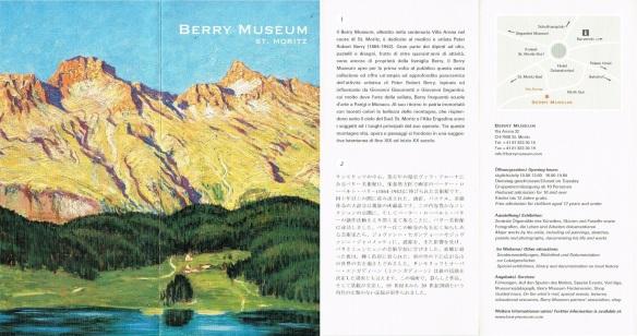 Brochures of Berry Museum, St. Moritz