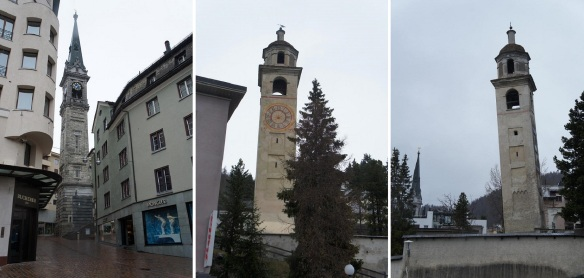 Campanile und Der Schiefe Turm di San Murezzan (Bell Tower and Leaning Tower of St. Moritz)