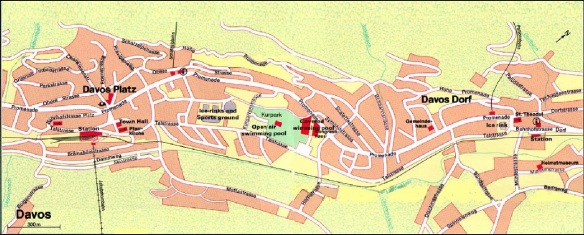 Davos City Centre Map