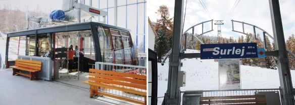The Gondola of Corvatsch Talstation