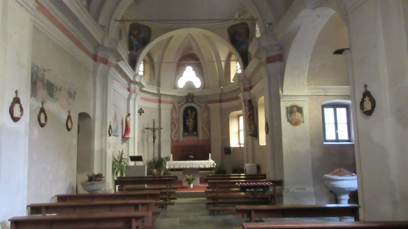 The interior is simple for the Catholic Church.