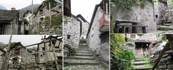 I walked around the narrow alleys in the village.