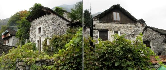 The stone walls of the houses are really beautiful.