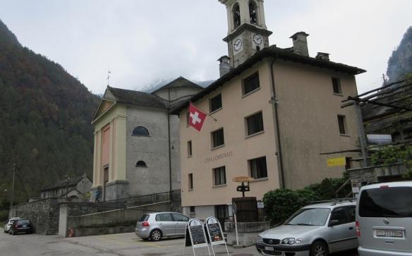 The parish church and town hall of Sonogno