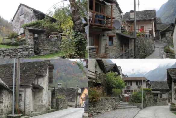Splendid houses in the village of Sonogno