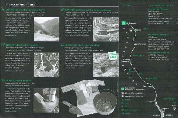 The brochure of the Verzasca Valley Museum Sonogno