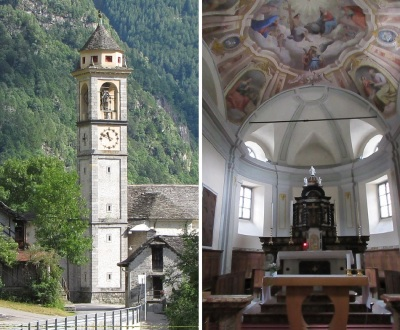 Bell tower and alter of the Church