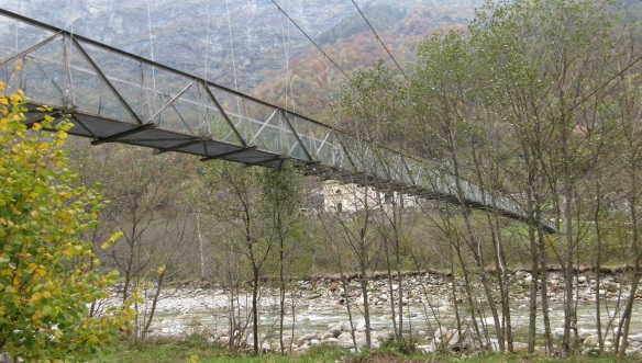 Hanging Bridge and Verzasca River