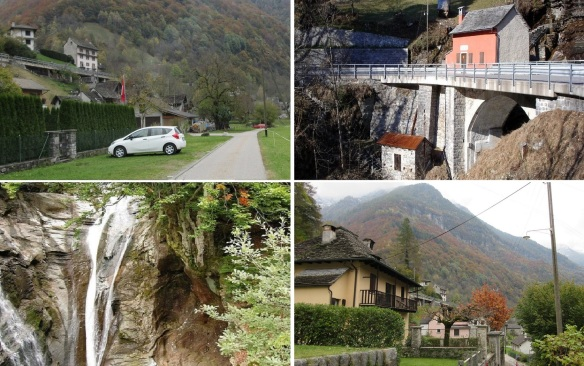 The street, the mill and the power station, the waterfall of Efra and really idyllic village of Frasco.