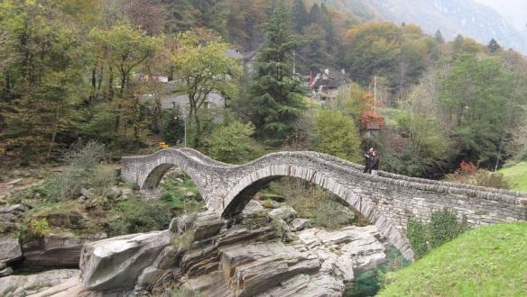 Bridge the Salti river in Lavertezzo
