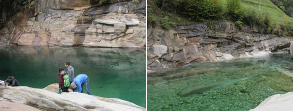 Really clean water of Verzasca River