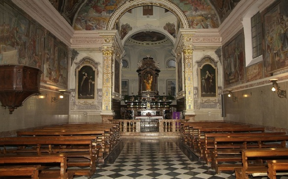 The nave and the altar of St. Rocco Lugano