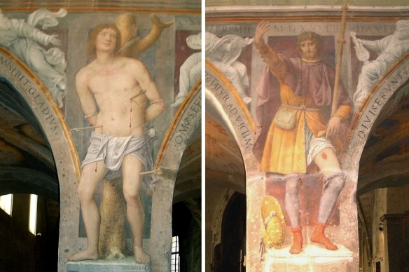 Frescos of San Sebastian and San Rocco