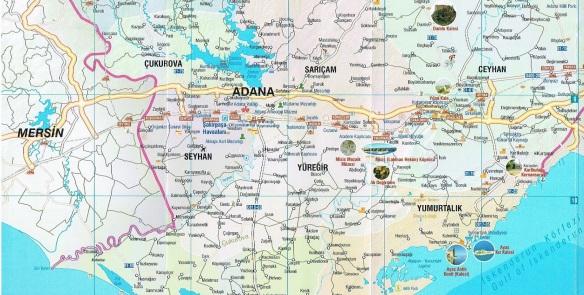 Adana area map