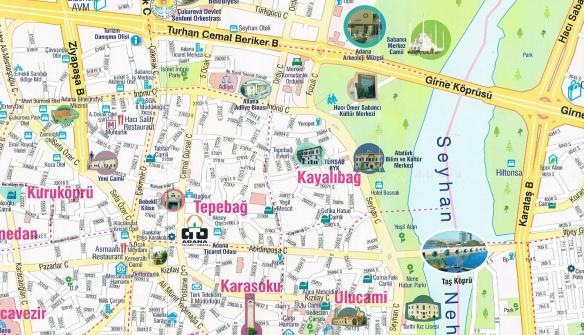Adana Town Map