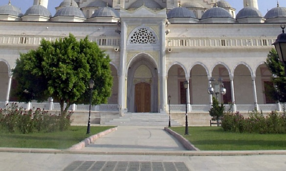 Entrance of Sabancı Central Mosque