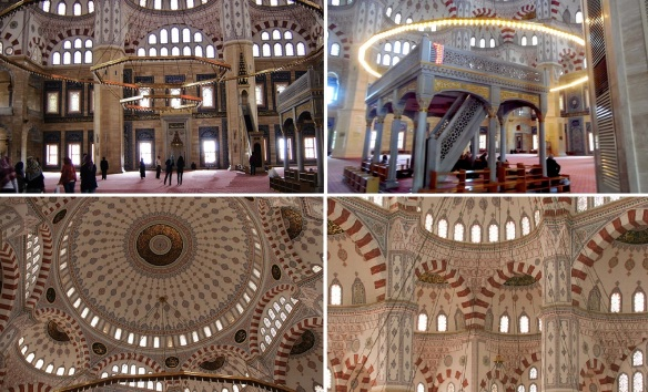 The interior of the Sabancı Central Mosque