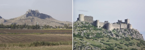 Approaching the ruins of the old castle.