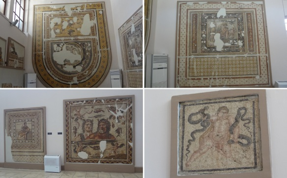 The Buffet Mosaic / Narcissus and Echo and Floral pattern / Oceanus and Thetis / Heracles Strangling Serpents